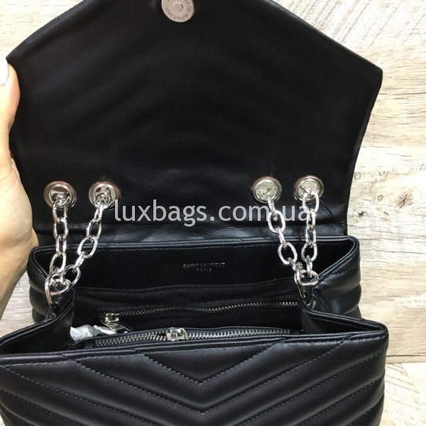 Женская чёрная сумка Yves Saint Laurent на цепочке фото 1