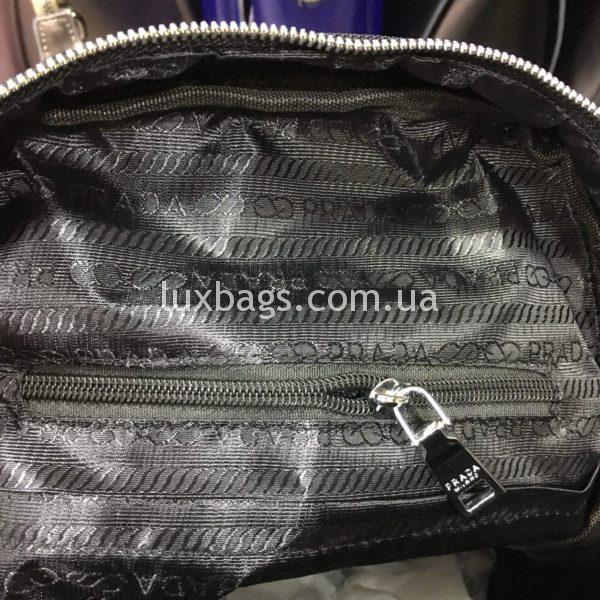 Женская сумка черная с каркасом фото 4