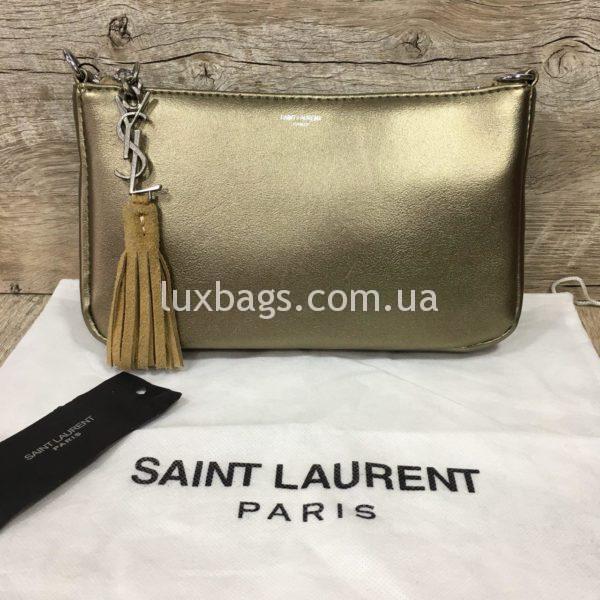 сумка-клатч Yves Saint Laurent золотая фото