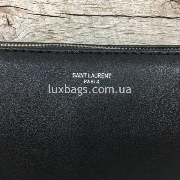 сумка-клатч Yves Saint Laurent черная фото 4
