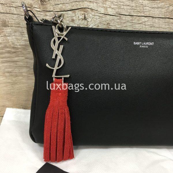 сумка-клатч Yves Saint Laurent черная фото 3