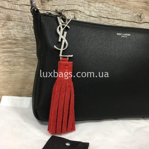 сумка-клатч Yves Saint Laurent черная фото 1