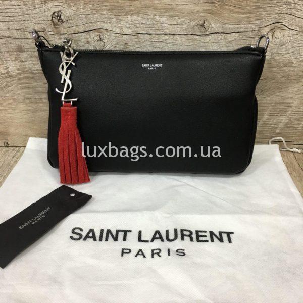 сумка-клатч Yves Saint Laurent черная фото