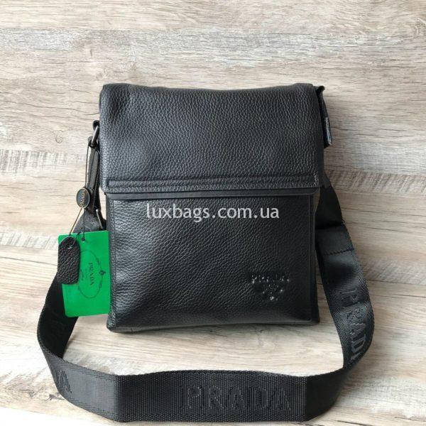 шикарная кожаная сумка прада мужская через плечо
