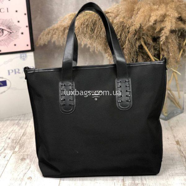 Плащевая черная сумка 7.