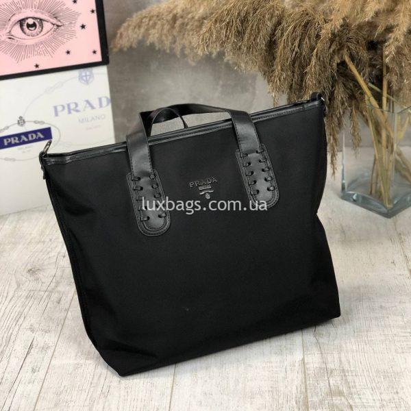 Плащевая черная сумка 5.