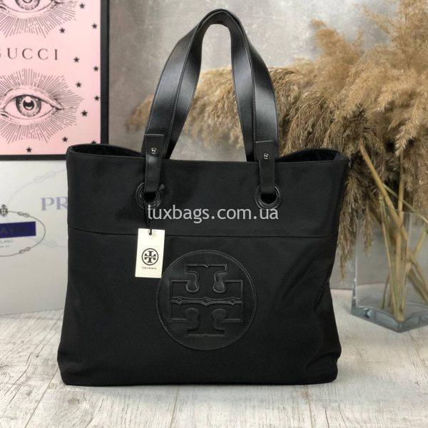 Плащевая черная сумка 4.