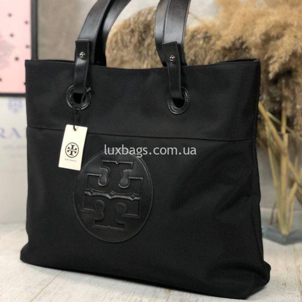 Плащевая черная сумка.