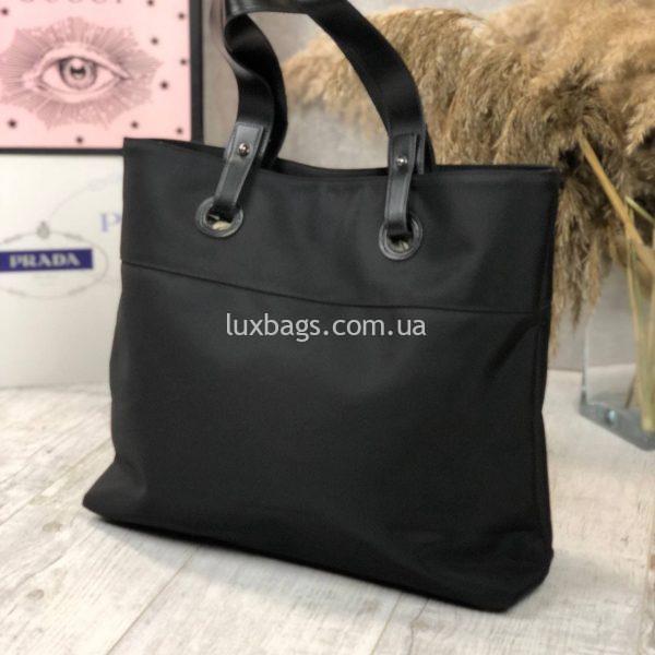Плащевая черная сумка 2.