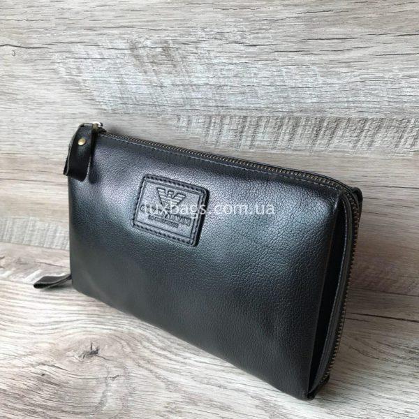 Мужская кожаная барсетка портмоне кошелек Armani