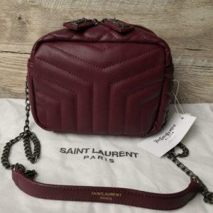 Женская стильная сумка ysl цвета марсал