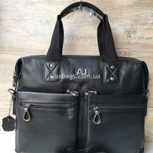 Мужской кожаный портфель Armani фото