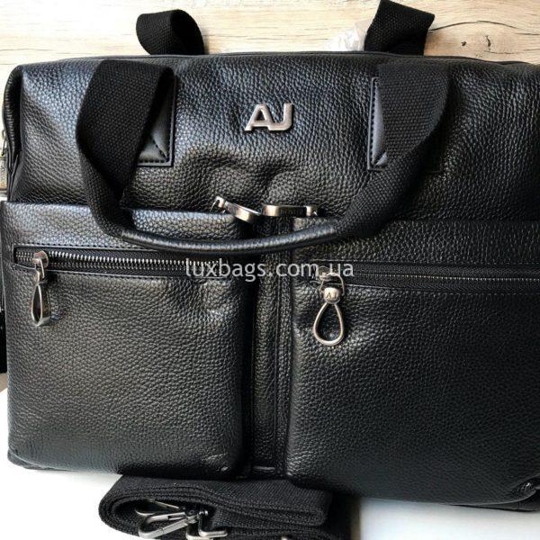 Мужской кожаный портфель Armani А4