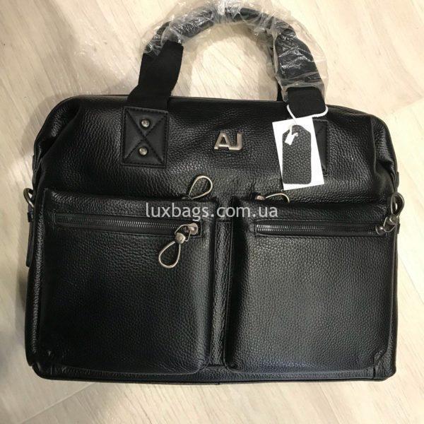 кожаный портфель Armani формата А4