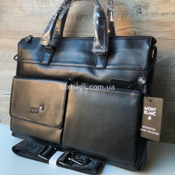 Кожаный портфель Mont Blanc стильный