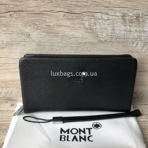 кожаный кошелек клатч Mont Blanc мужской фото