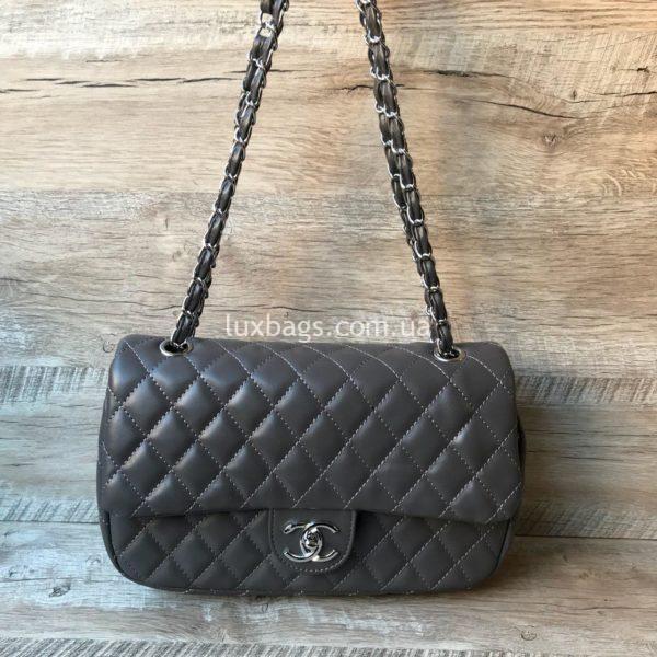 женская сумка шанель 2.55 купить серая