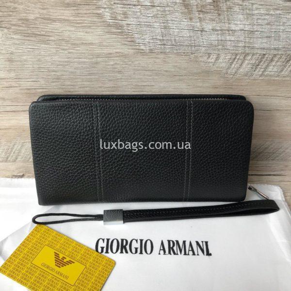 кожаный клатч кошелек Armani