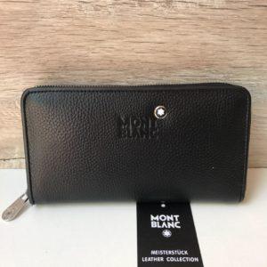 Мужской кошелёк Mont Blanc фото черный