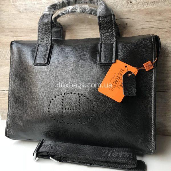 Мужской кожаный портфель Hermes 1