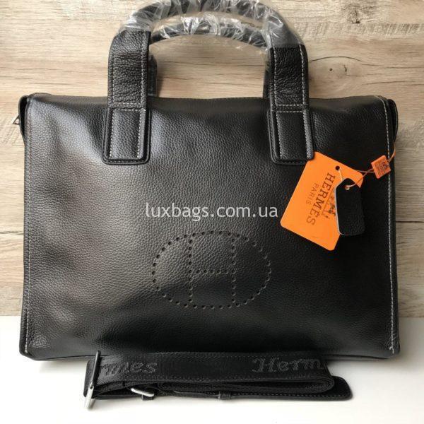 Мужской кожаный портфель Hermes 2