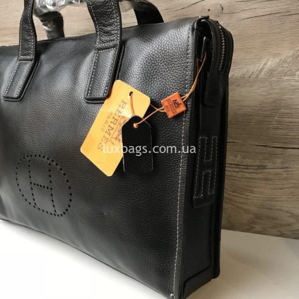 Мужской кожаный портфель Hermes 3