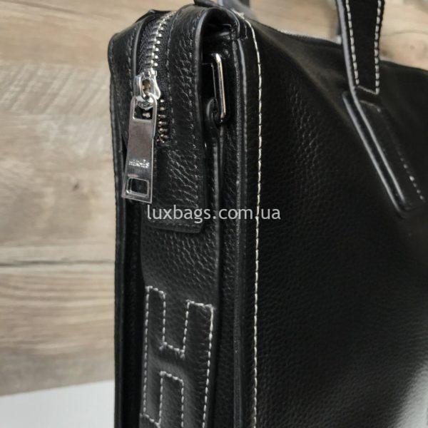 Мужской кожаный портфель Hermes 6