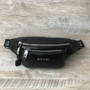 Кожаная сумка на пояс Gucci 1