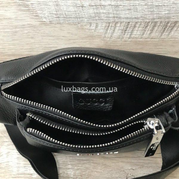 Кожаная сумка на пояс Gucci 3