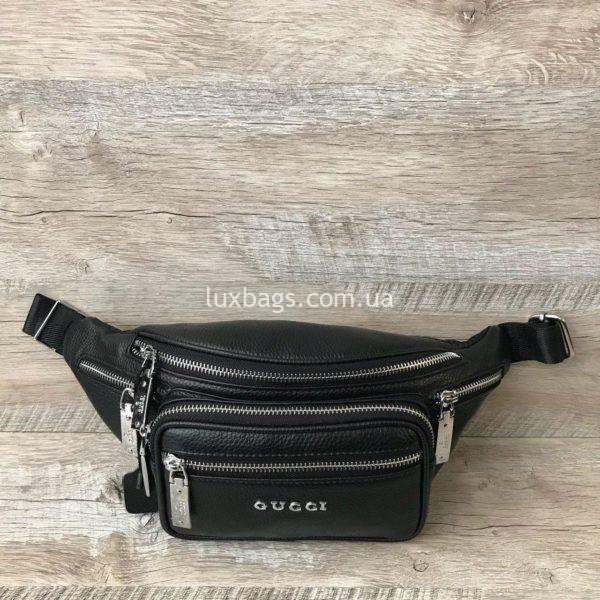 Кожаная сумка на пояс Gucci 5