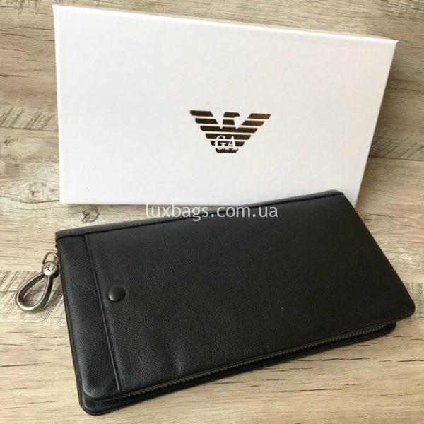 кожаный клатч-кошелек Armani 3