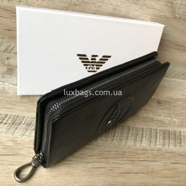 кожаный клатч-кошелек Armani 5