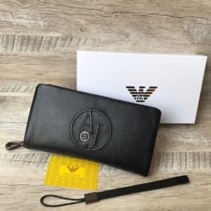кожаный клатч-кошелек Armani 7