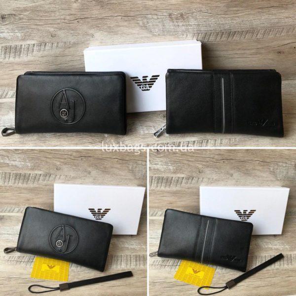 кожаный клатч-кошелек Armani 8