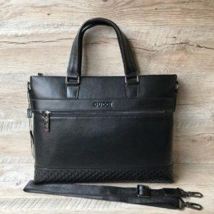 Мужской кожаный портфель Gucci 8