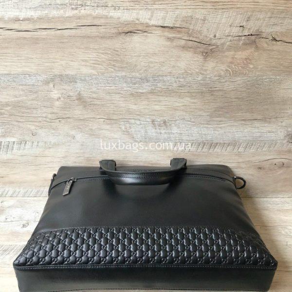 Мужской кожаный портфель Gucci 1