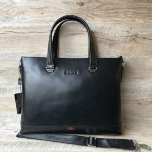 портфель Gucci из гладкой кожи 3
