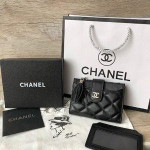 кожаный кошелёк Chanel 1