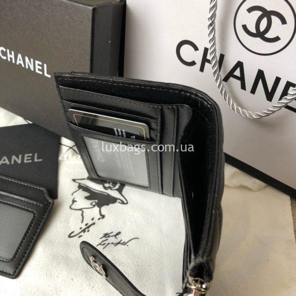 кожаный кошелёк Chanel 4