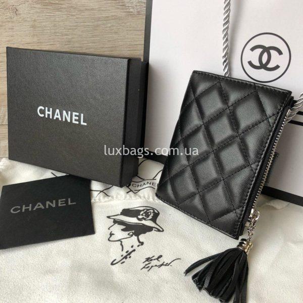 кожаный кошелёк Chanel 5