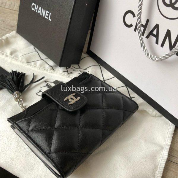 кожаный кошелёк Chanel 6