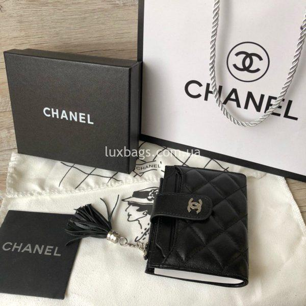 кожаный кошелёк Chanel 7