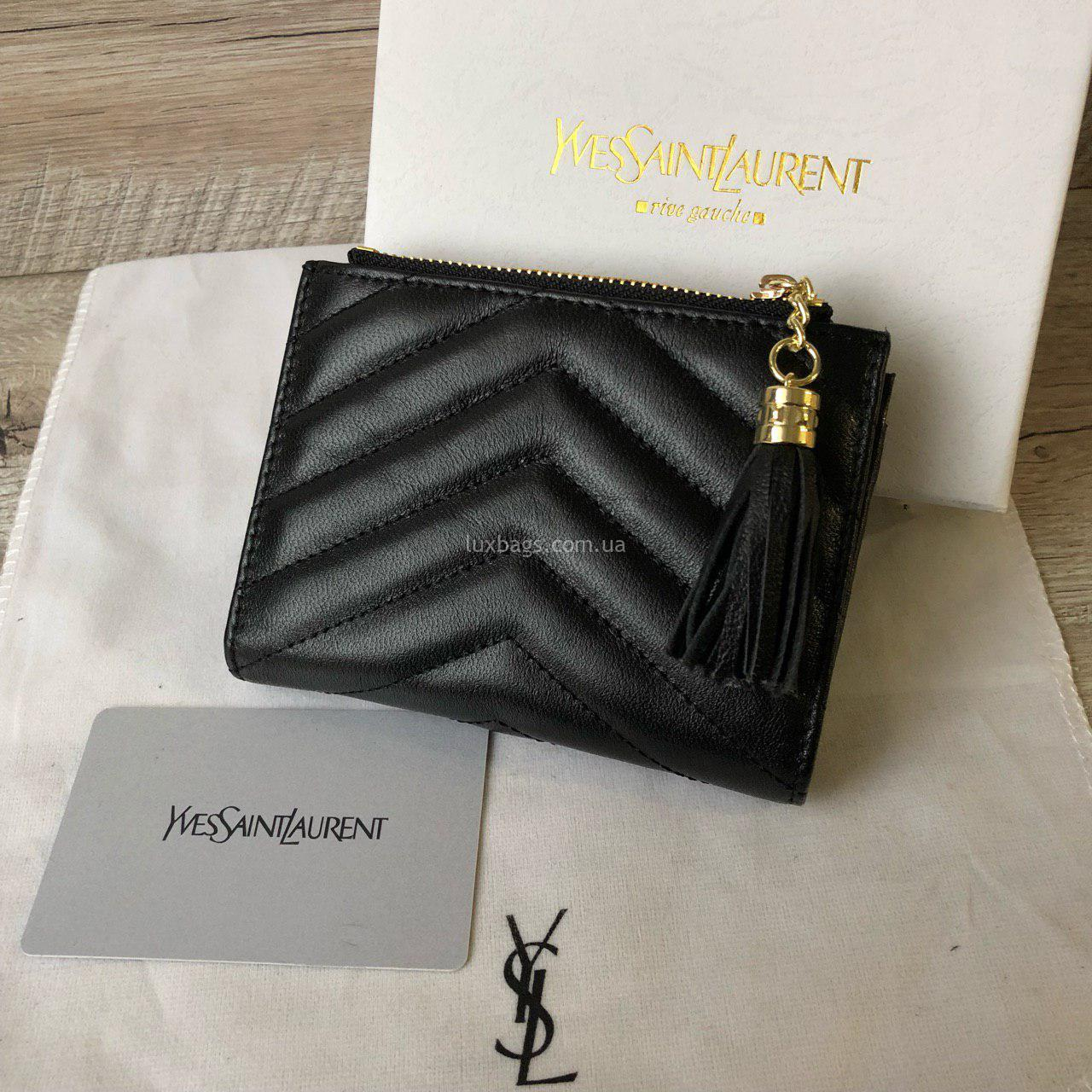 94d5e1179758 Кожаный кошелёк Yves Saint Laurent маленький Купить на lux-bags