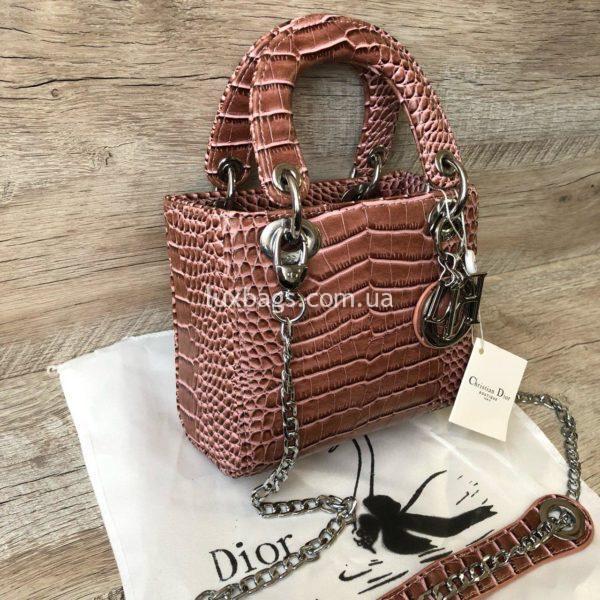 сумка Dior Lady розовая