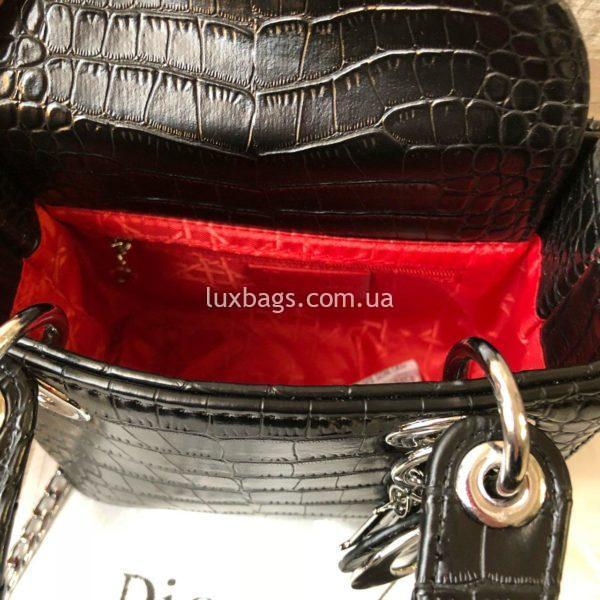 Dior Lady черная с выделкой