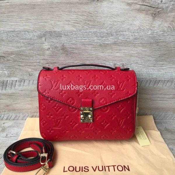 красная сумка через плечо Луи Виттон
