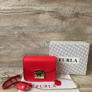 красная сумка Furla metropolis