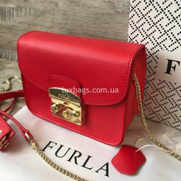 красная сумка Furla metropolis 3