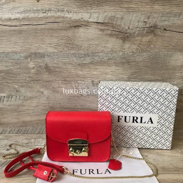 красная сумка Furla metropolis 6