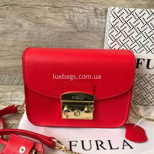 красная сумка Furla metropolis 2